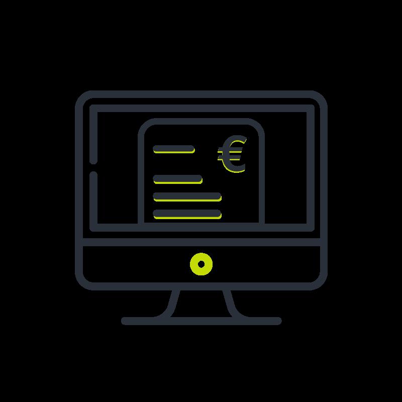 Digitale Gehaltsabrechnung Icon